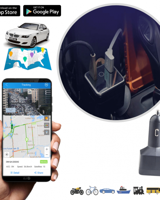 4. Dupno GPS Car Charger vehcile tracking system-min