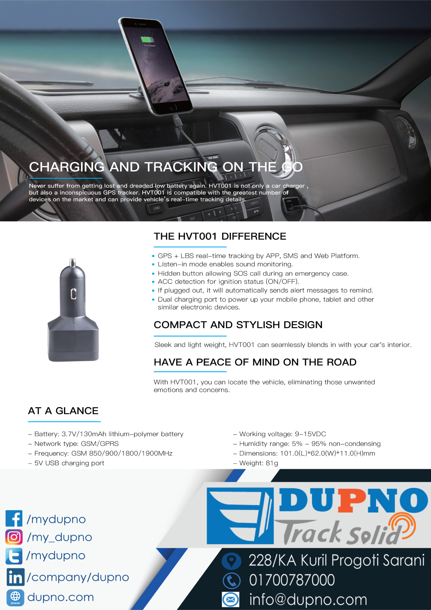 DUPNO best GPS tracking service in Bangladesh with latest and advanced IoT Devices and Platform with Web, iOS and Android Mobile Apps